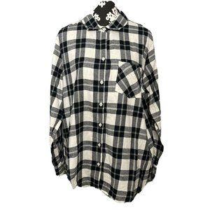 Old Navy XL Extra Large Classic Shirt Black Grey P